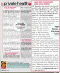 Help! My episiotomy scar still hurts! - First Magazine June 2008