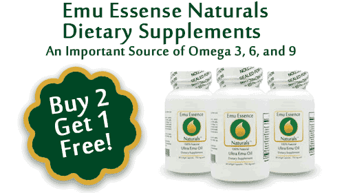 Emu Oil Gelcaps - Buy Two, Get One Free!