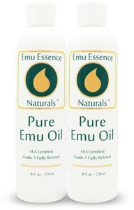 8oz Emu Oil Twin Pack